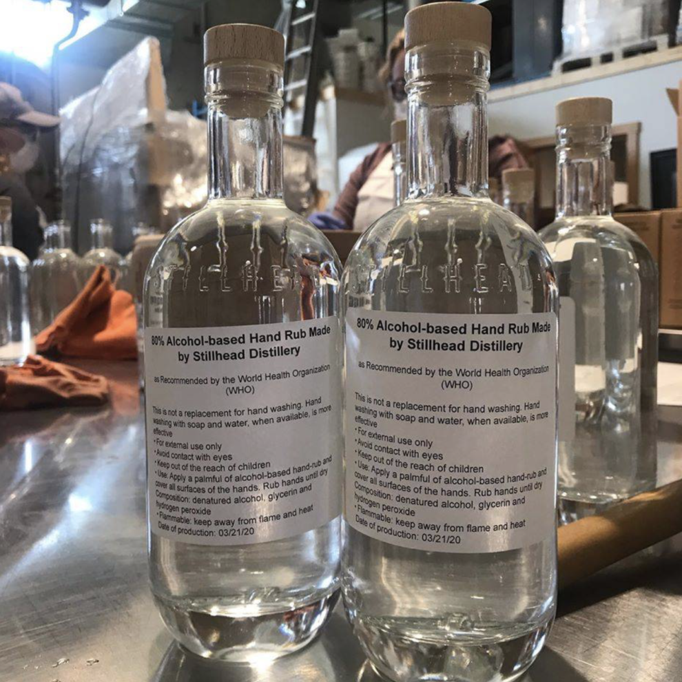 2020.03.24 Cowichan Valley distilleries make hand sanitizer IMAGE accompanying article | Screen Shot 2020-03-26 at 7.25.48 PM